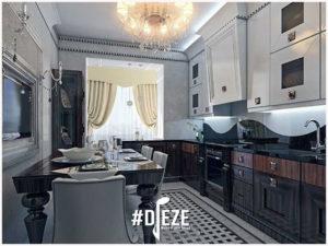Классическая кухня с фрезерованными фасадами