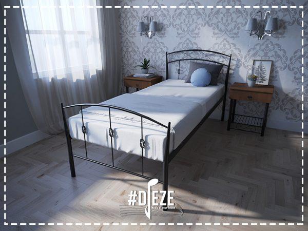 Кровать летиция односпальная черная