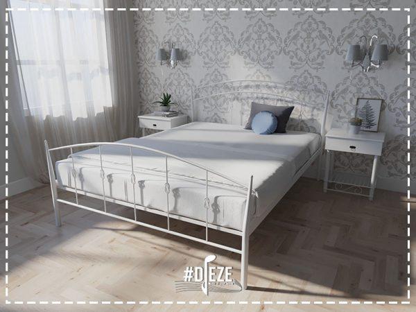 Кровать Летиция металл белая