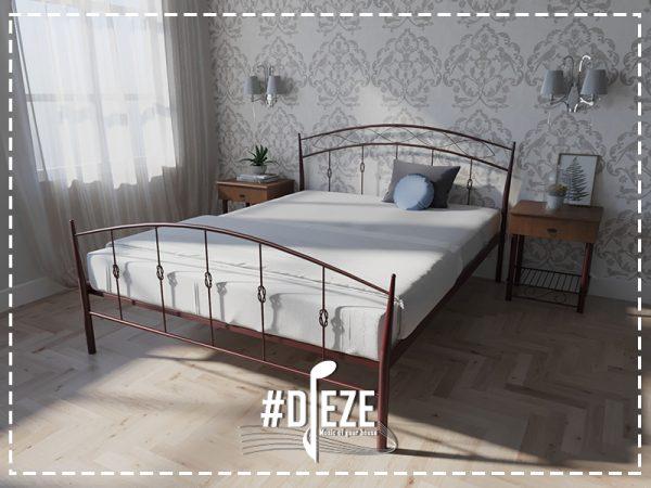 Кровать Летиция двухспальная бордовая