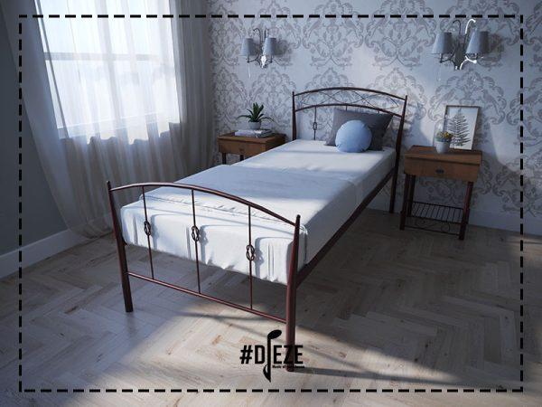 Кровать односпальная железная