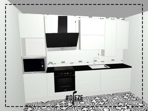 № Д визуализация кухня белая